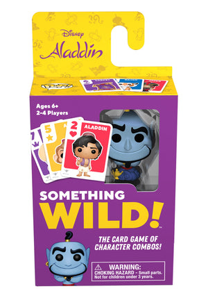 Funko's Signature Games:  Something Wild Card Game - Aladdin - Sheldonet Toy Store