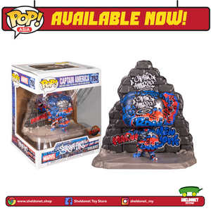 Pop! Deluxe: Marvel - Captain America (Graffiti Deco) [Exclusive] - Sheldonet Toy Store