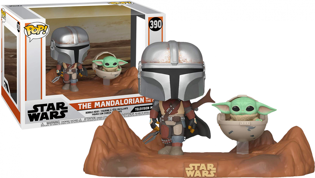 Pop TV Moments : The Mandalorian - The Mandalorian And The Child (Baby Yoda) - Sheldonet Toy Store