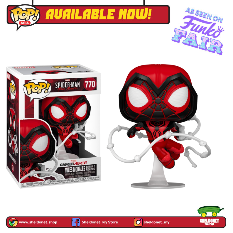 Pop! Games: Miles Morales - Miles Morales in Crimson Cowl Suit - Sheldonet Toy Store