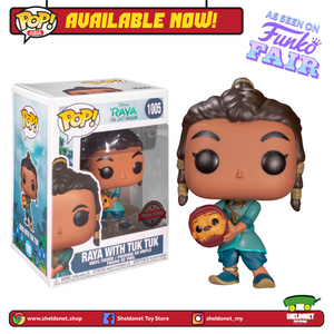 Pop! Disney: Raya & The Last Dragon - Raya with Tuk Tuk (Exclusive) - Sheldonet Toy Store