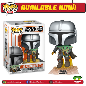 Pop! Star Wars: The Mandalorian - The Mandalorian With The Child Flying Jet - Sheldonet Toy Store