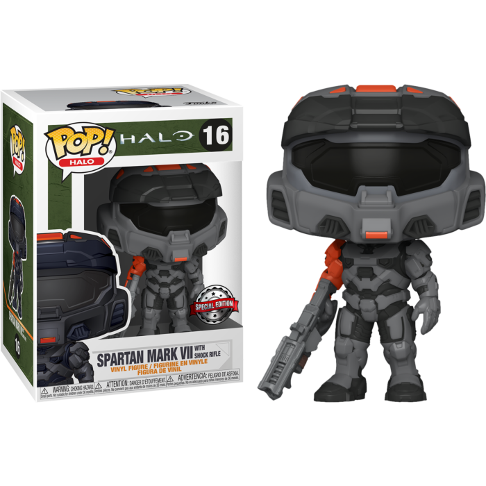 Pop! Games: Halo Infinite - Spartan Mark VII with Shock Rifle [Exclusive] - Sheldonet Toy Store
