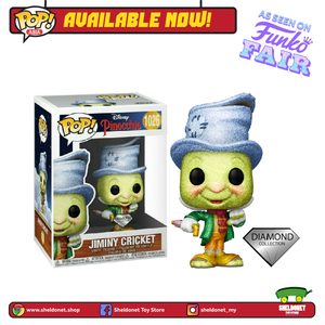 Pop! Disney: Pinocchio - Street Jimmy Cricket (Diamond Glitter) [Exclusive] - Sheldonet Toy Store
