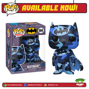 Pop! Heroes (Artist Series): DC Comics - Batman (Blue & Black) with Pop! Protector (Exclusive) - Sheldonet Toy Store