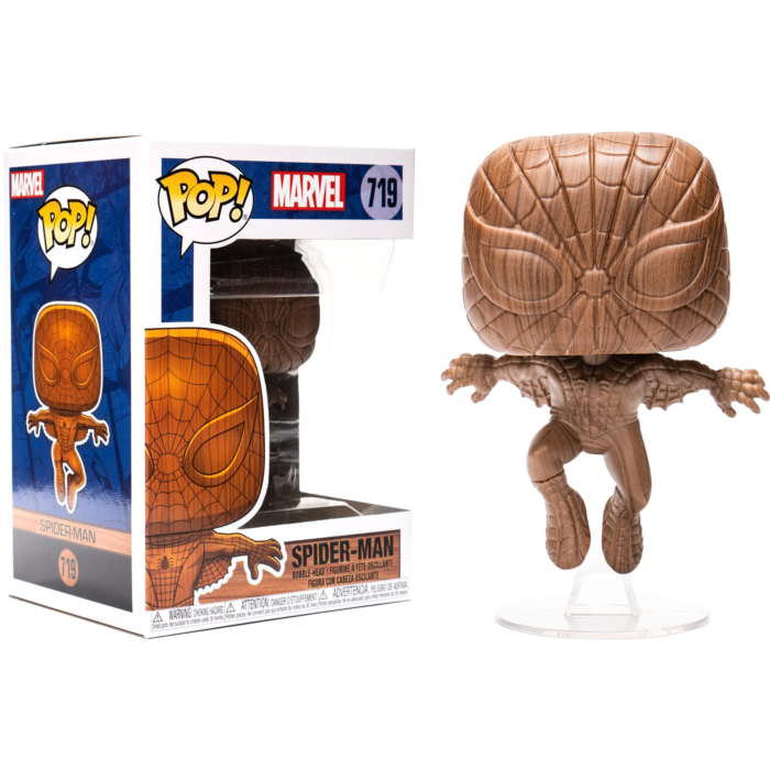 Pop! Marvel: Marvel - Spider-Man (Wood Deco) [Exclusive] - Sheldonet Toy Store