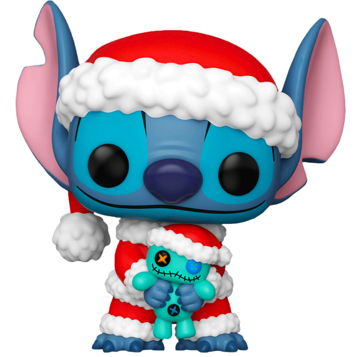 Pop! Disney: Lilo & Stitch - Santa Stitch with Scrump [Exclusive] - Sheldonet Toy Store