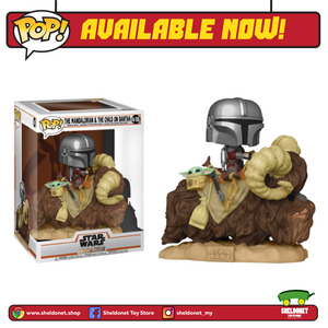 Pop! Deluxe: Mandalorian - The Mandalorian on Bantha with Child in Bag - Sheldonet Toy Store