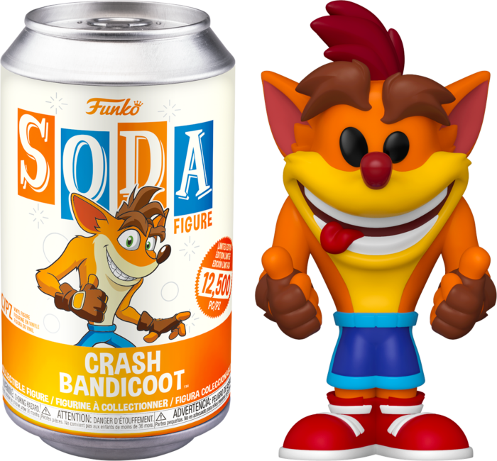 Vinyl Soda: Crash Bandicoot - Crash - Sheldonet Toy Store
