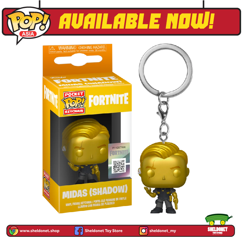 Pocket Pop! : Fortnite - Midas (Metallic) - Sheldonet Toy Store