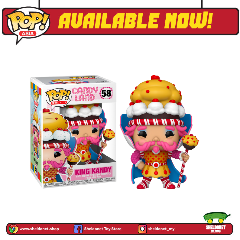 Pop! Vinyl: Candyland - King Kandy - Sheldonet Toy Store