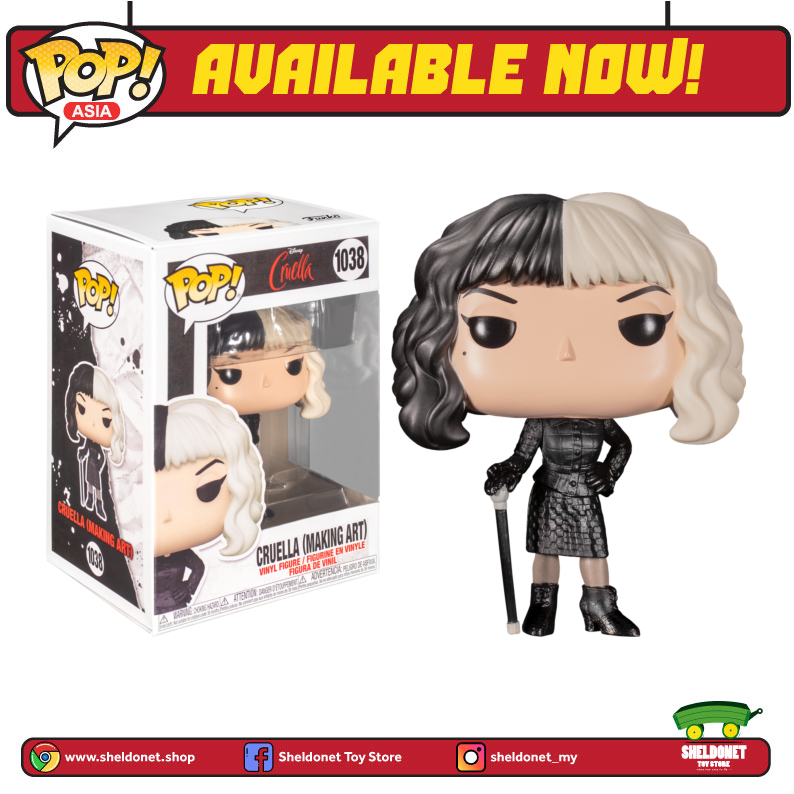 Pop! Disney: Cruella (2021) - Cruella De Vil (Making Art) - Sheldonet Toy Store