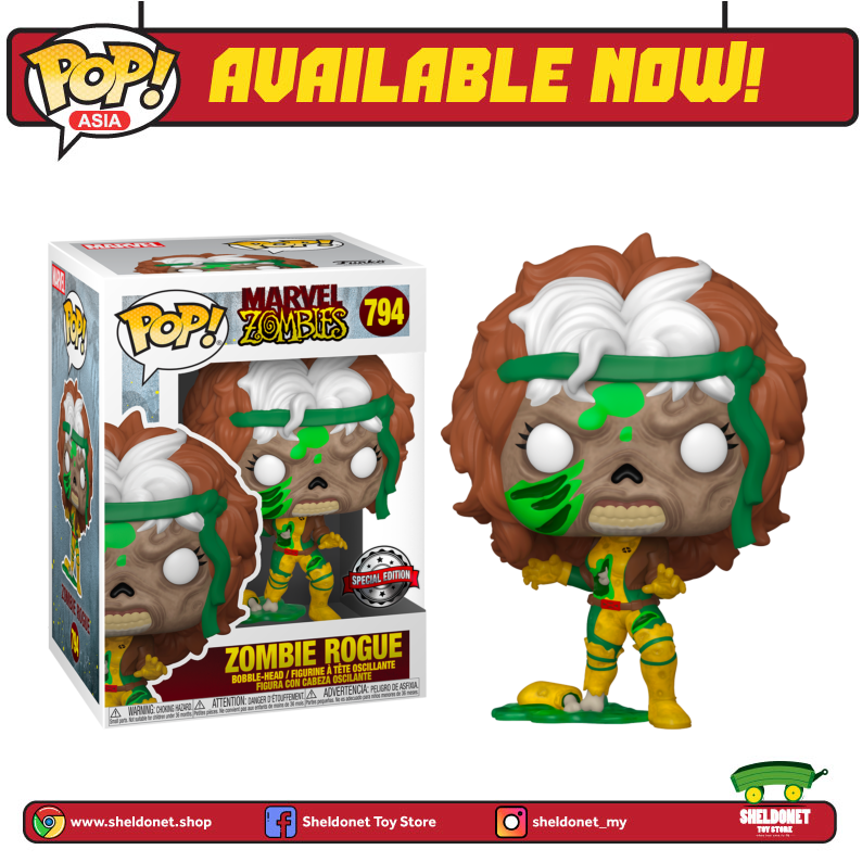 Pop! Marvel: Marvel Zombies- Rogue [Exclusive] - Sheldonet Toy Store