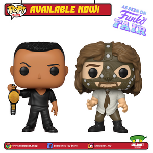 Pop! WWE - The Rock vs. Mankind (2-Pack) [Metallic] [Exclusive] - Sheldonet Toy Store