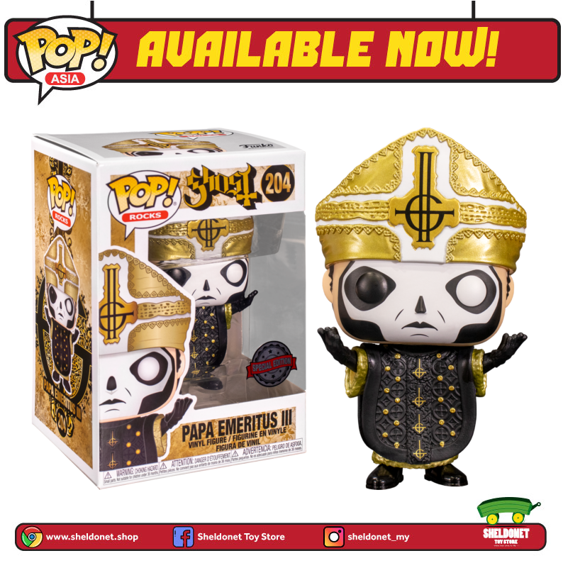 Pop! Rocks: Ghost - Papa Emeritus III (Metallic) [Exclusive] - Sheldonet Toy Store