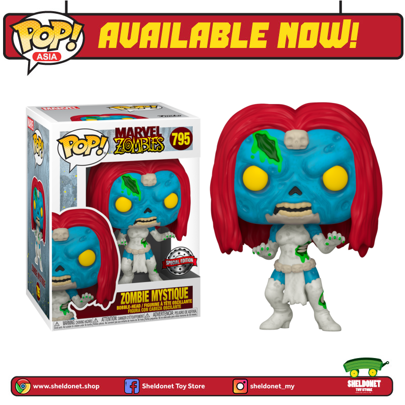 Pop! Marvel: Marvel Zombies- Mystique [Exclusive] - Sheldonet Toy Store