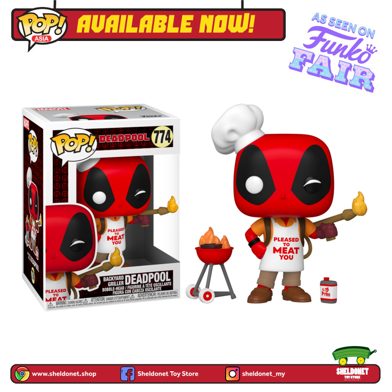 Pop! Marvel: Deadpool 30th Anniversary - Backyard Griller Deadpool - Sheldonet Toy Store