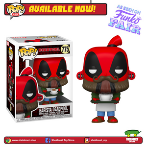 Pop! Marvel: Deadpool 30th Anniversary - Barista Deadpool - Sheldonet Toy Store
