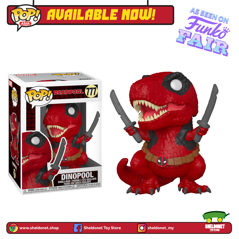 Pop! Marvel: Deadpool 30th Anniversary - Dinopool - Sheldonet Toy Store