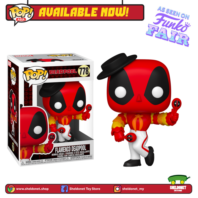 Pop! Marvel: Deadpool 30th Anniversary - Flamenco Deadpool - Sheldonet Toy Store