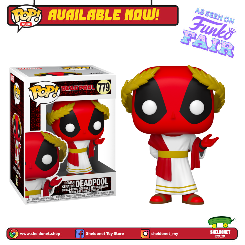 Pop! Marvel: Deadpool 30th Anniversary - Roman Senator Deadpool - Sheldonet Toy Store