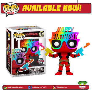 Pop! Marvel: Deadpool 30th Anniversary - Birthday Glasses Deadpool (Exclusive) - Sheldonet Toy Store