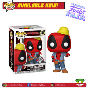 Pop! Marvel: Deadpool 30th Anniversary - Construction Worker Deadpool [Exclusive]