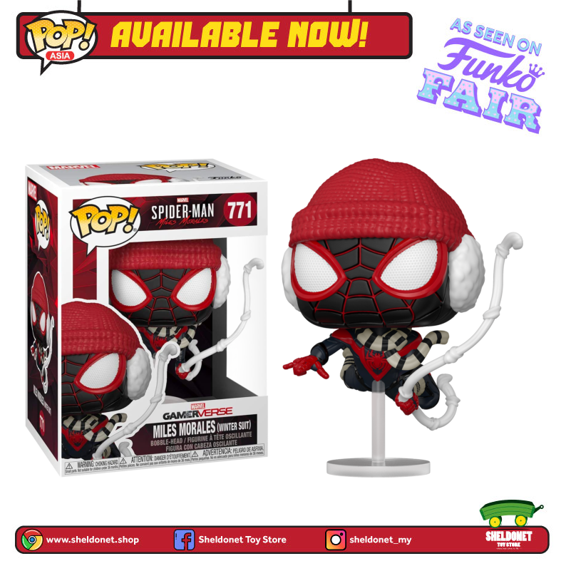 Pop! Games: Miles Morales - Miles Morales in Winter Suit - Sheldonet Toy Store