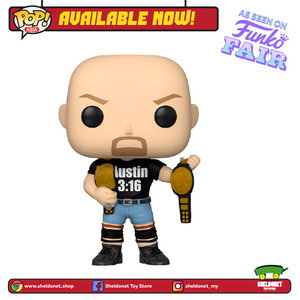 Pop! WWE - Stone Cold Steve Austin with Austin 3:16 shirt [Exclusive] - Sheldonet Toy Store