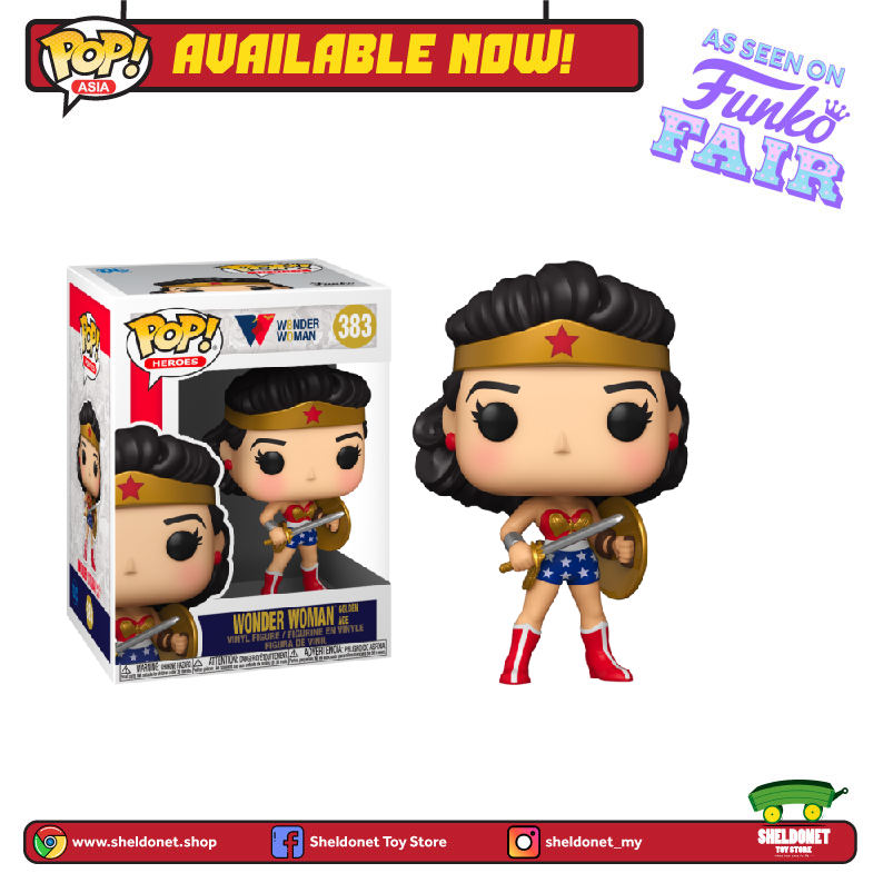 Pop! Heroes: DC Comics - Wonder Woman Golden Age (1950's) - Sheldonet Toy Store