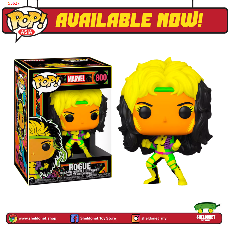 Pop! Marvel: Black Light - Rogue  [Exclusive] - Sheldonet Toy Store