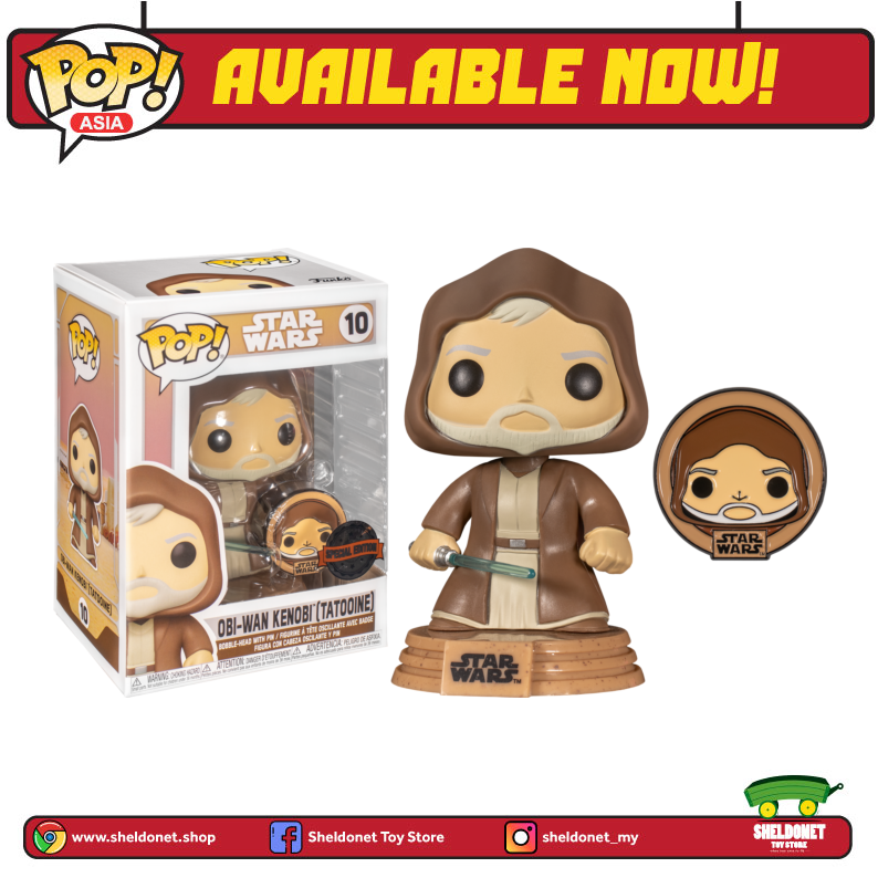 Pop! Star Wars: Across The Galaxy - Obi-Wan Kenobi Tatooine with Enamel Pin (Exclusive)