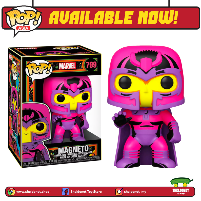 Pop! Marvel: Black Light - Magneto [Exclusive] - Sheldonet Toy Store