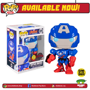 [PREORDER] Pop! Marvel: Marvel Mech - Captain America (Glow In The Dark) [Exclusive] - Sheldonet Toy Store