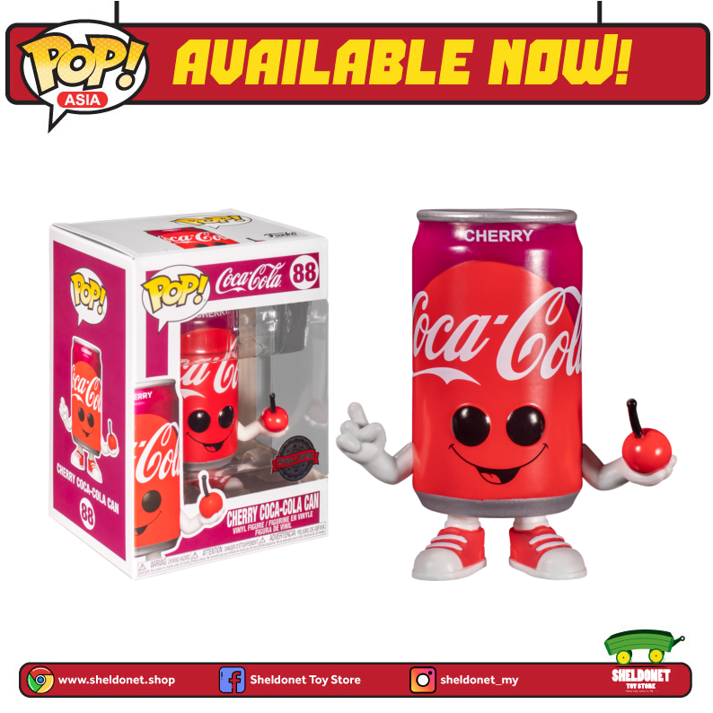Pop! Coca Cola - Cherry Coca-Cola Can [Exclusive] - Sheldonet Toy Store