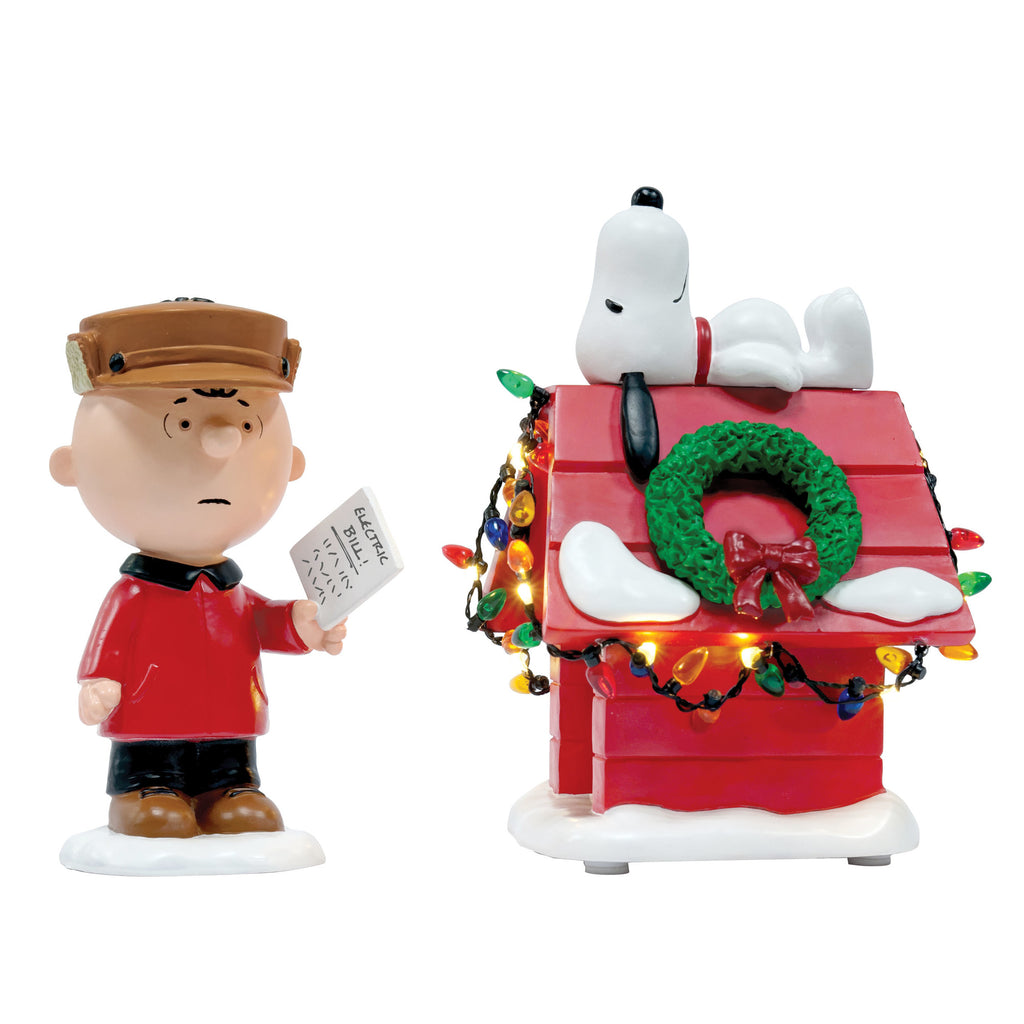 Enesco : Department 56 Peanuts - Light It Up (set of 2) - Sheldonet Toy Store