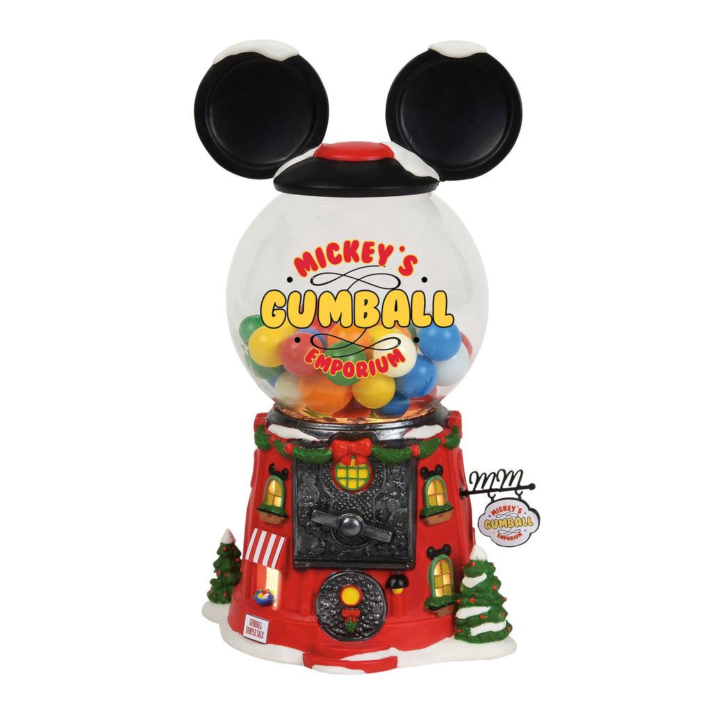 Enesco : North Pole Series - Mickey's Gumball Emporium - Sheldonet Toy Store