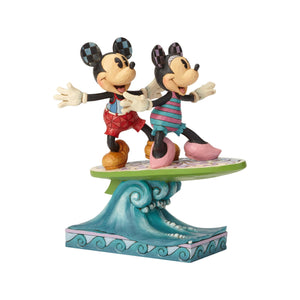 Enesco : Disney Traditions - Minnie and Mickey Surfboard - Sheldonet Toy Store