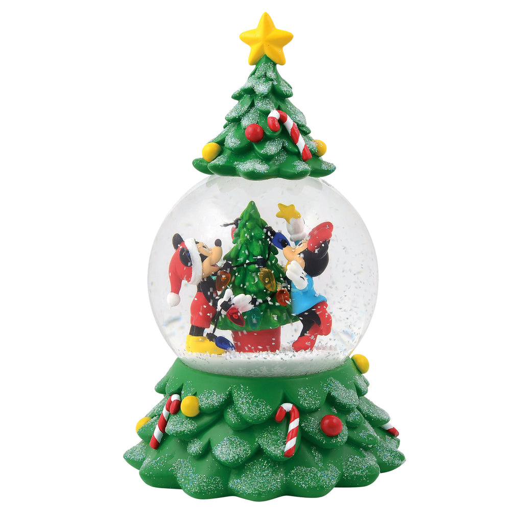 Department 56 : Disney Mickey and Minnie Tree Globe Waterball - Sheldonet Toy Store