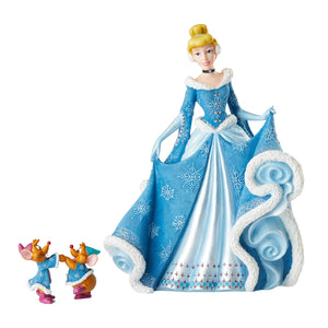 Enesco : Disney Showcase - Holiday Cinderella with Mice - Sheldonet Toy Store