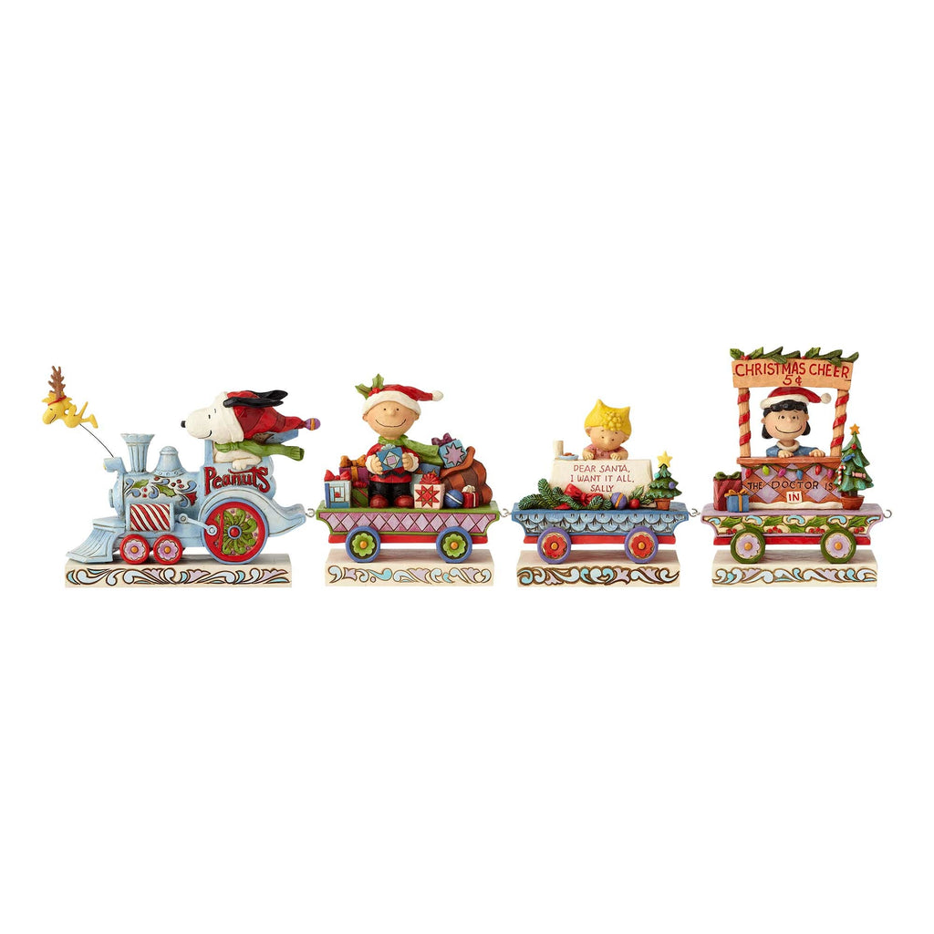 Enesco : Peanuts by Jim Shore - Peanuts Deluxe Train Set - Sheldonet Toy Store