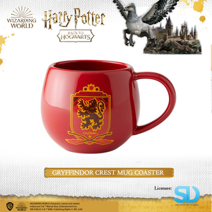 Enesco: Wizarding World - Gryffindor Crest Mug Coaster - Sheldonet Toy Store