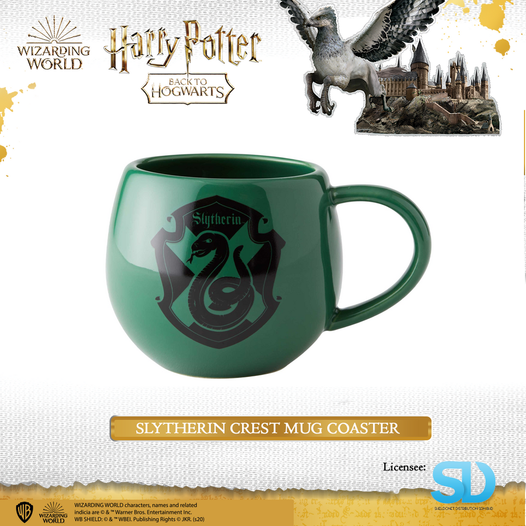 Enesco: Wizarding World - Slytherin Crest Mug Coaster - Sheldonet Toy Store