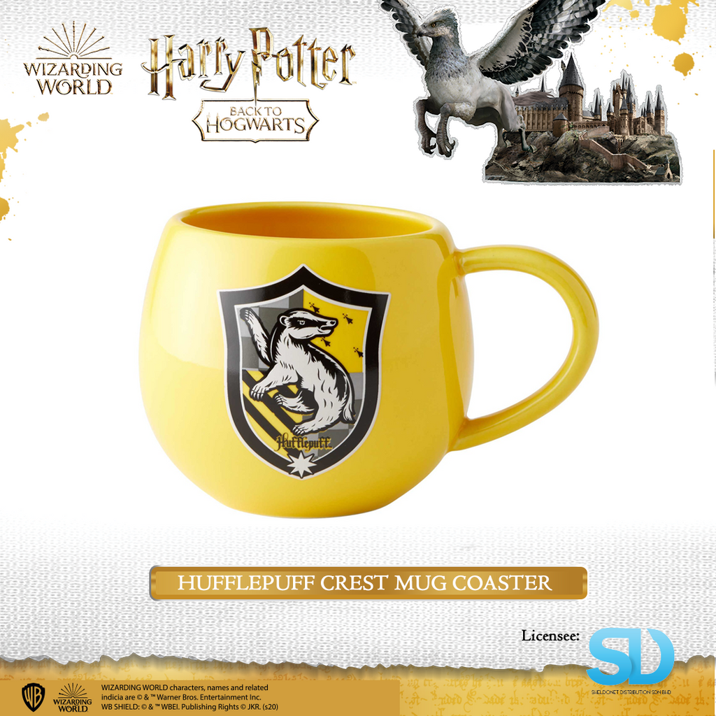 Enesco: Wizarding World - Hufflepuff Crest Mug Coaster - Sheldonet Toy Store