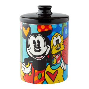 Enesco : Disney by Britto - Pluto Canister Cookie Jar - Sheldonet Toy Store