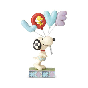 Enesco: Peanuts by Jim Shore - Snoopy with Love Balloon - Sheldonet Toy Store