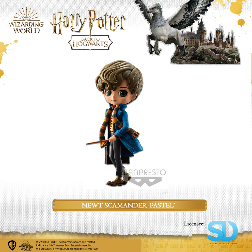 Banpresto: Q Posket - Fantastic Beasts - Newt Scamander (Pastel Colouring) - Sheldonet Toy Store