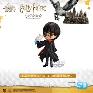 Banpresto: Q Posket - Wizarding World - Harry Potter with Hedwig (Normal Colouring) - Sheldonet Toy Store