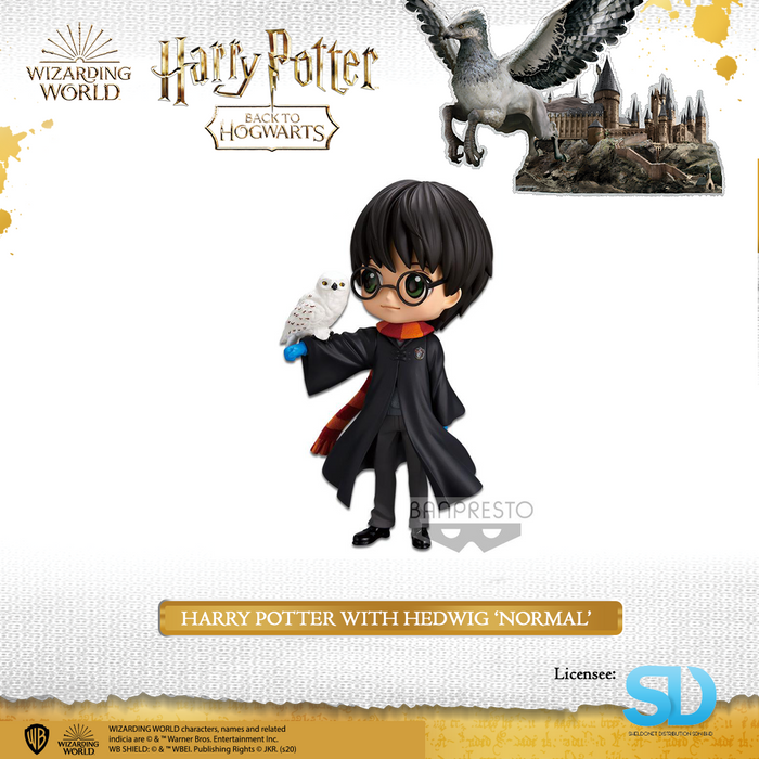Banpresto: Q Posket - Wizarding World - Harry Potter with Hedwig (Normal Colouring)