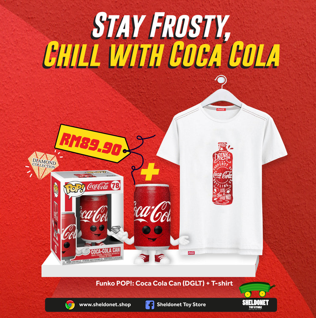 [STAY COOL WITH COCA COLA BUNDLE] - Funko Pop! Coca-Cola - Cola Can (Diamond Glitter) [Exclusive] + Coca Cola T-Shirt